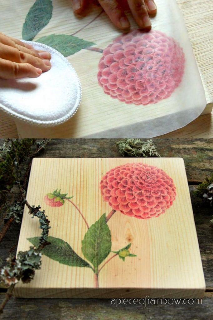 Make art and decor on wood for mom