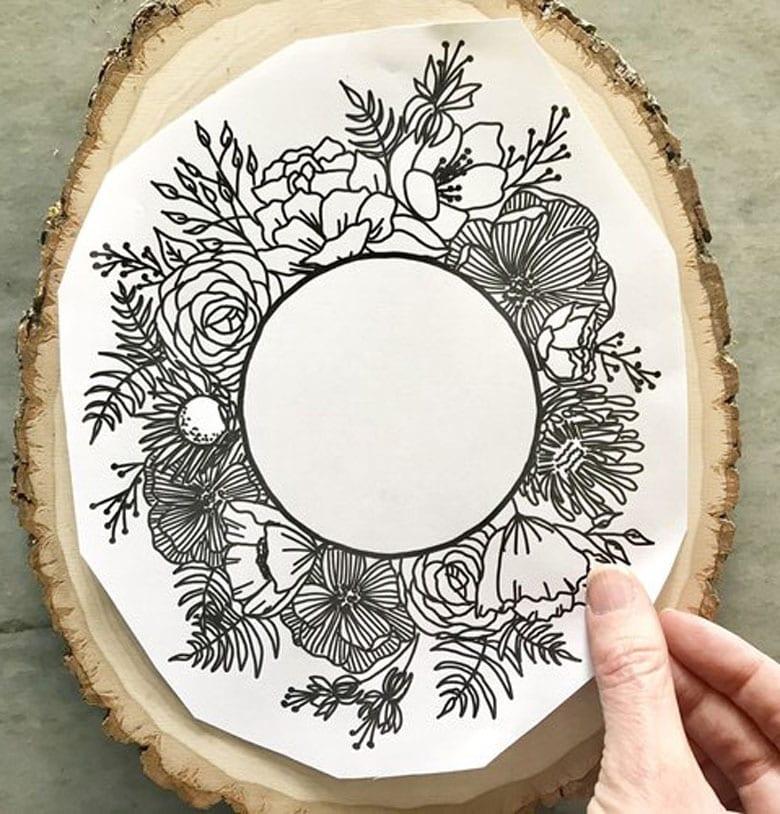 Art au bois bricolage cadeaux de fête des mères