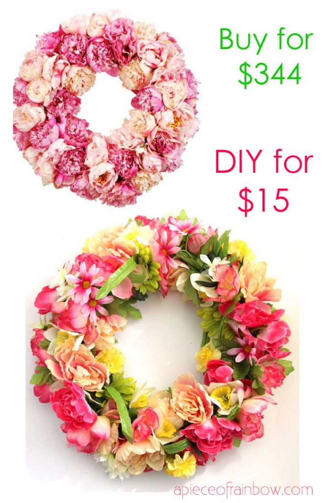 Make a flower wreath for mom's birthday or Mother's Day