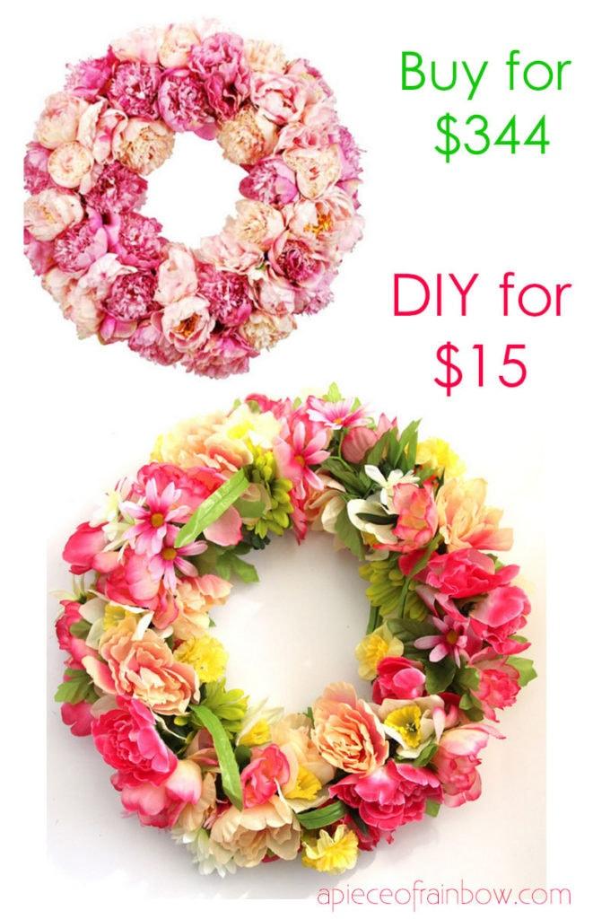 Faites une couronne de fleurs pour l'anniversaire de maman ou la fête des mères
