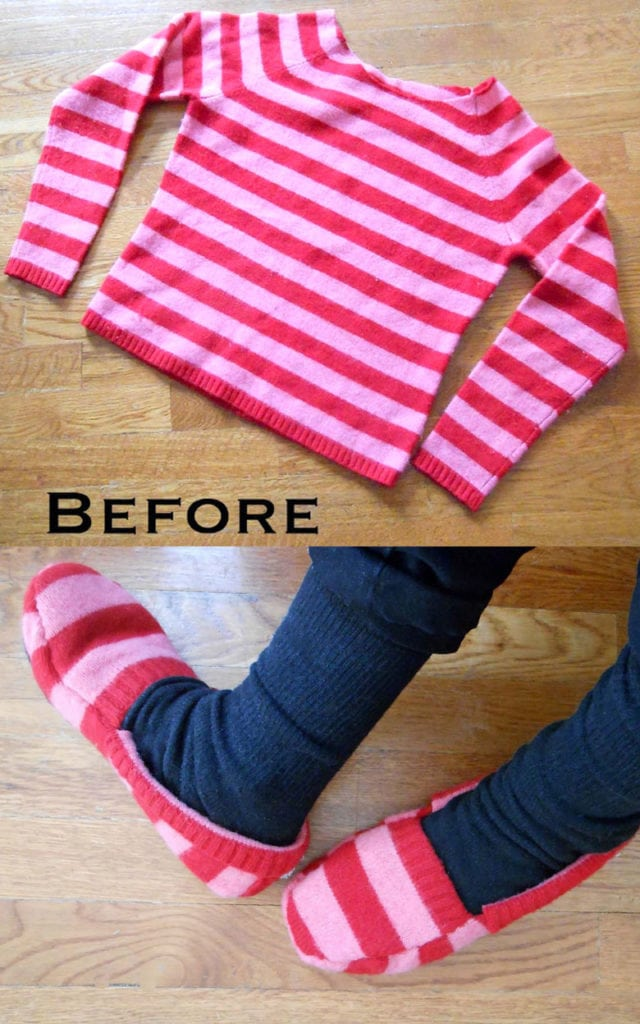 Handmade slippers DIY Mother's Day gifts