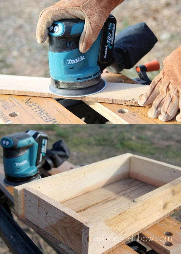 sand pallet wood