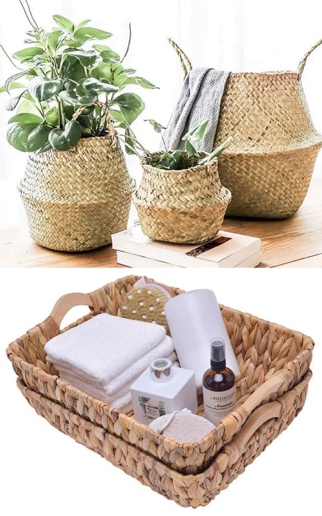 baskets are beautiful Mother's Day gifts for moms who love natural farmhouse decor.