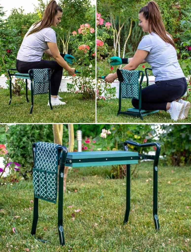 multi-functional portable garden bench for mom