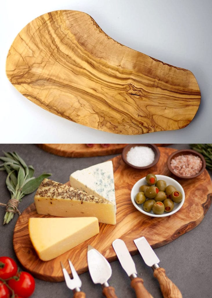 rustic olive wood cutting boards Mother's Day gift