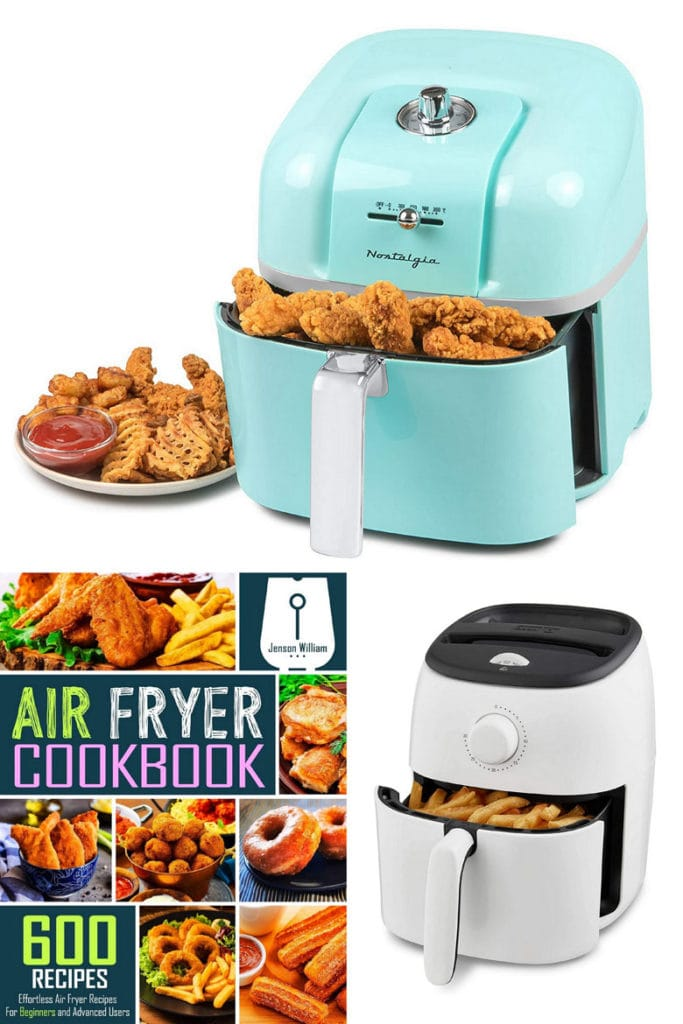 air fryer with attractive colors and a recipe book gifts for mom