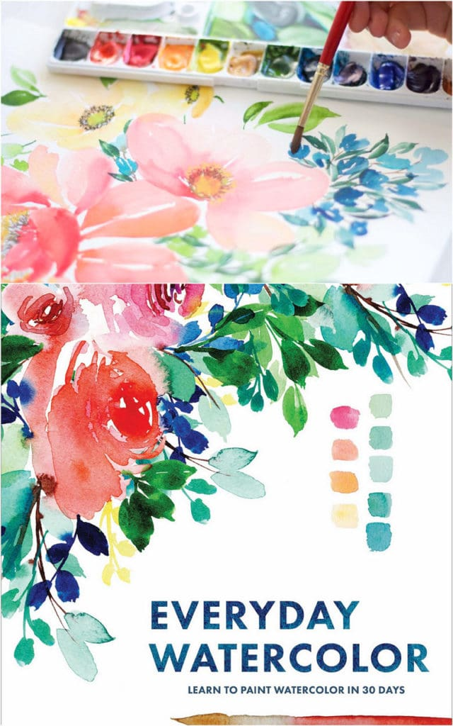 Beautiful  Mother's Day gift: a watercolor flower book for mom
