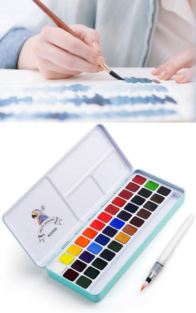 Watercolor Paint Set  for mom