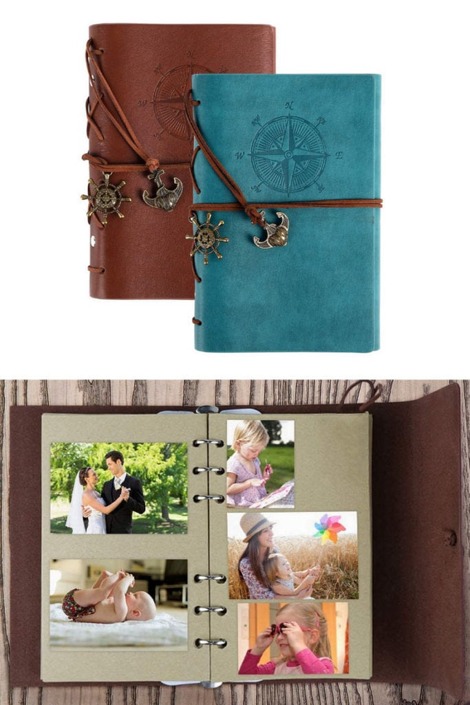 leather journal notebook birthday or Mother's Day gift for mom