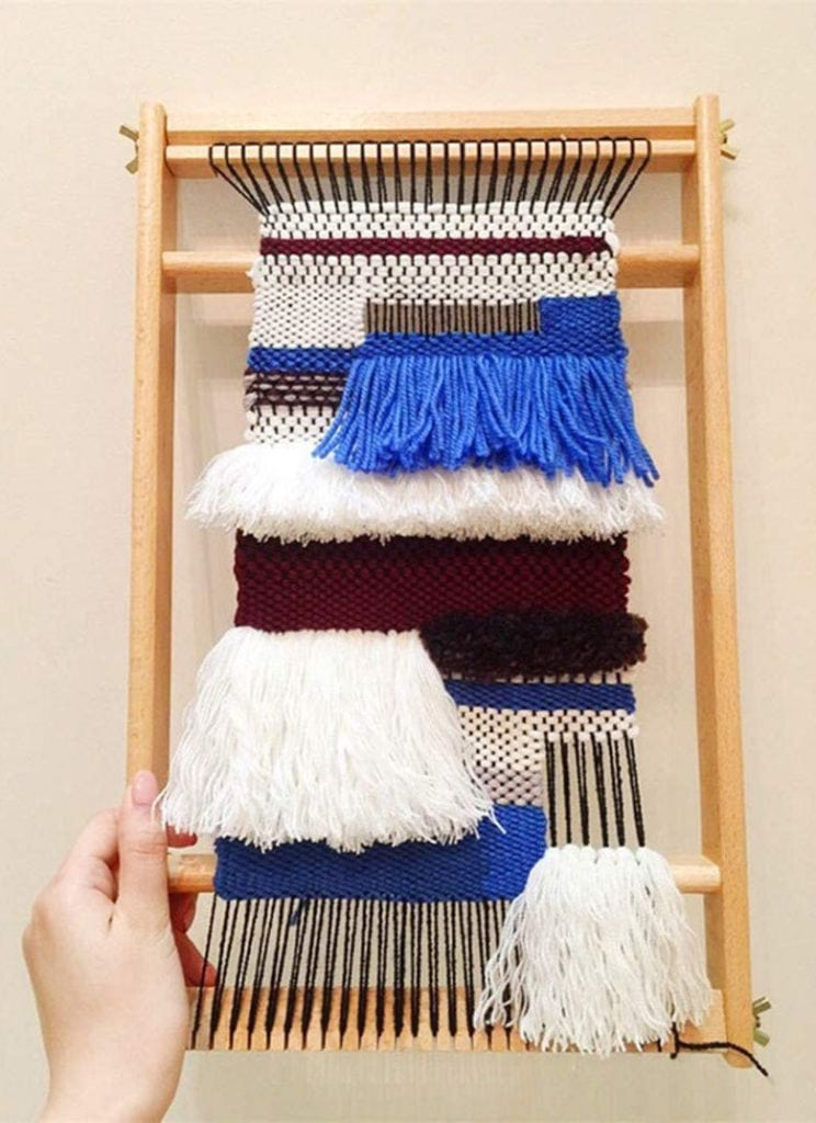 weaving rug loom kit birthday or Mother's Day gift for mom