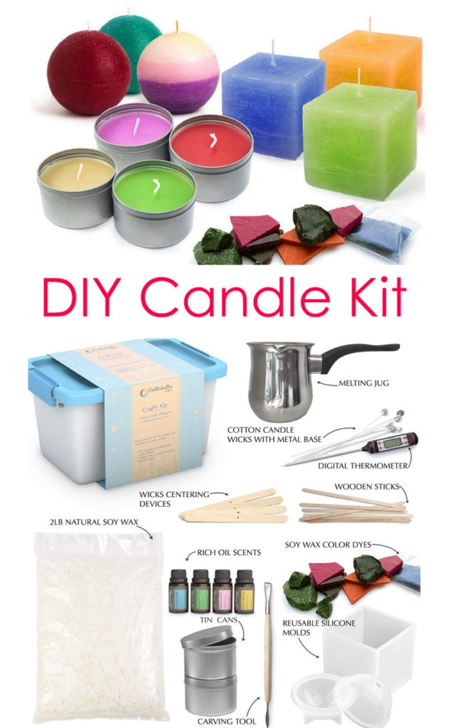 Mother's day gifts for crafty moms :  a Candle making kit