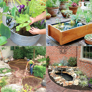 best DIY pond ideas & tutorials, from easy kits for small garden & patio water feature to beautiful backyard waterfall with plants & fish