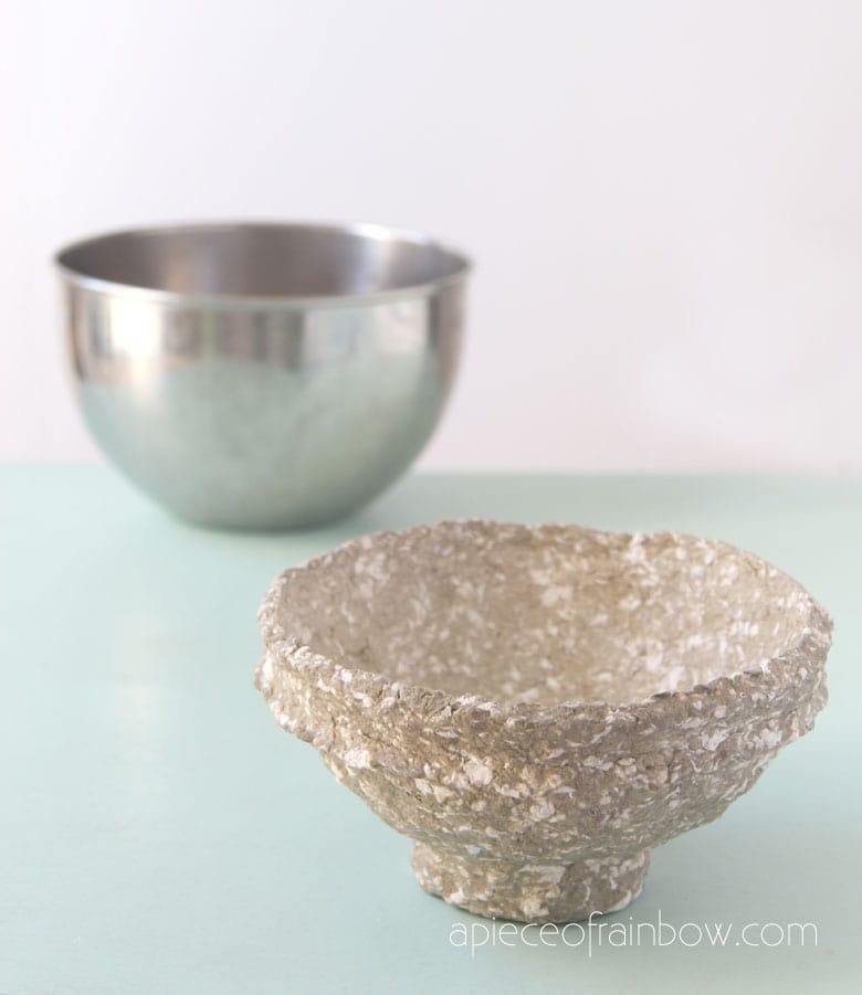 how to make vintage paper mache bowls