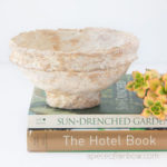 Make vintage paper mache bowls from easy DIY paper clay! Beautiful handmade crafts, great for primitive, boho, farmhouse & modern home decor!