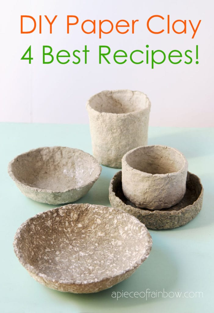 DIY paper clay bowls crafts and decor