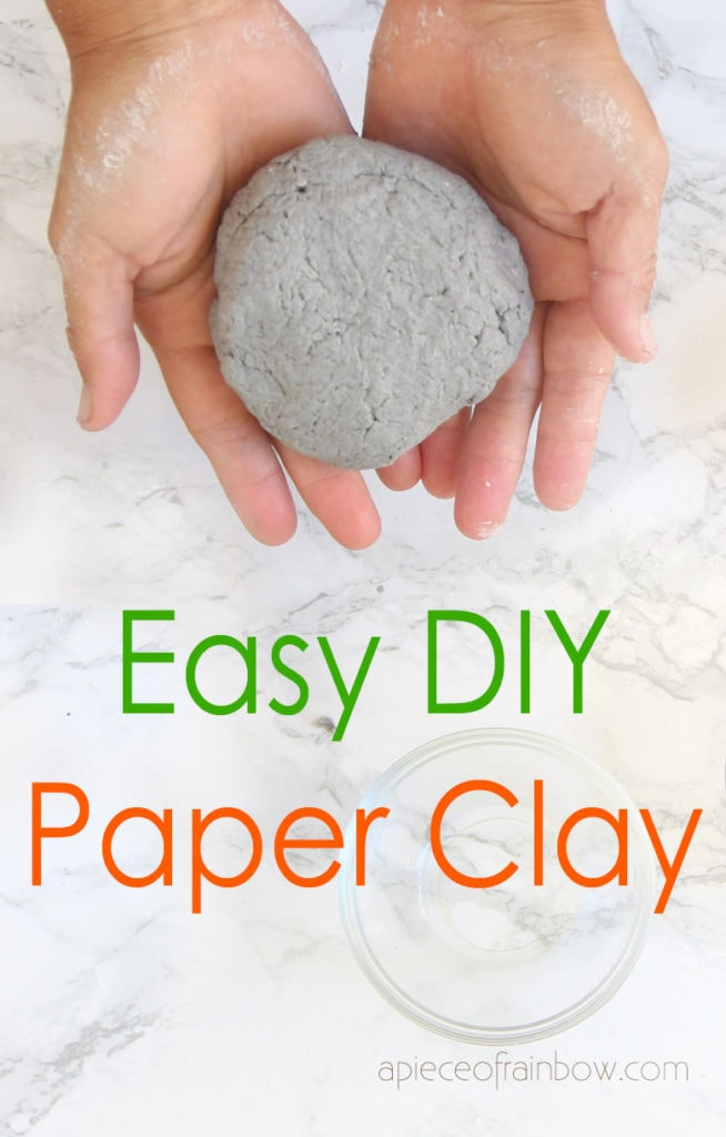 DIY paper mache clay with joint compound