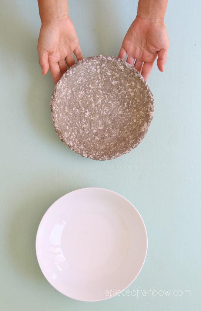 DIY paper mache clay idea for home decor & kids crafts
