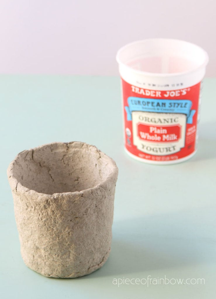 paper mache clay pot made with easy recipe