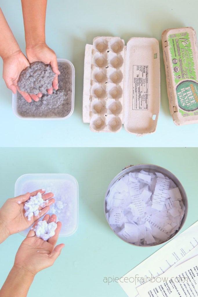egg carton paper pulp