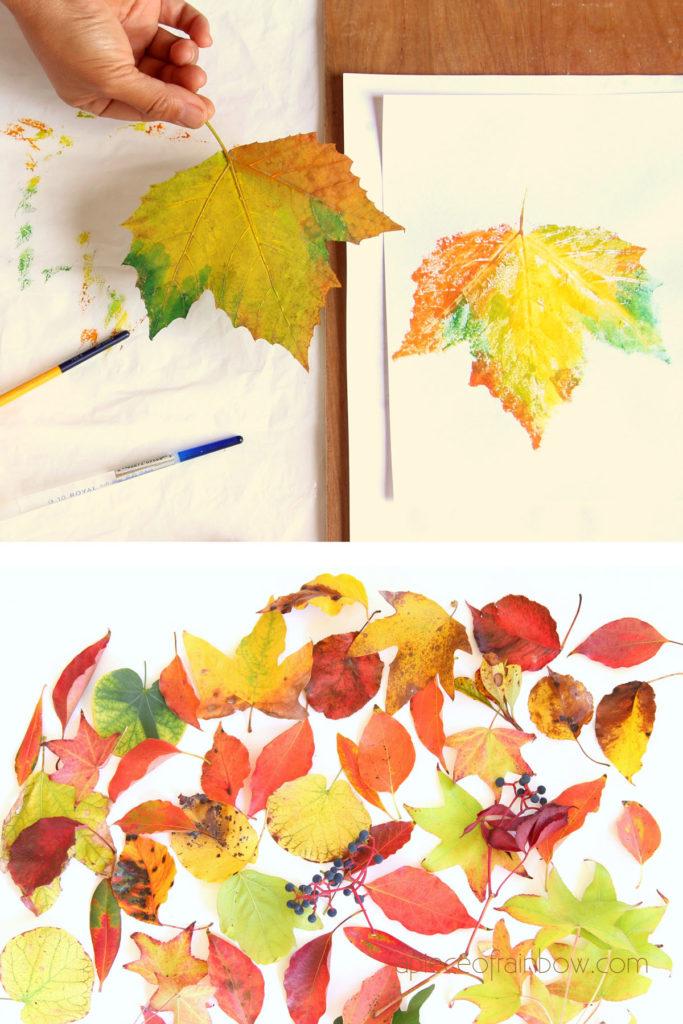 todas las hojas impresas con acuarela o pintura artesanal