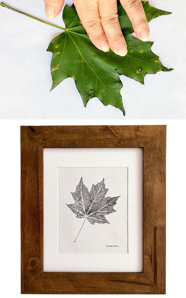 Arte de impresión de hoja de bricolaje en blanco y negro