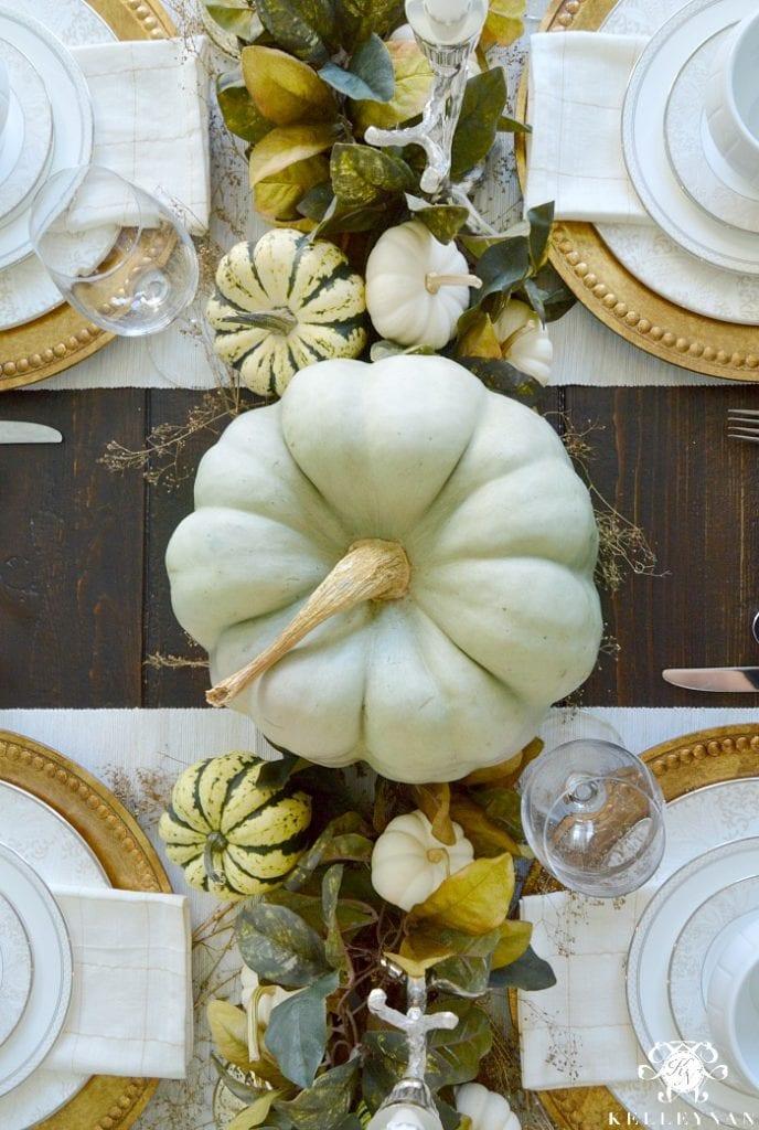 Modern glam Thanksgiving table decor
